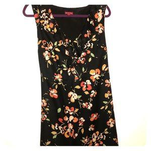Sleeveless Merona flutter-collar floral dress